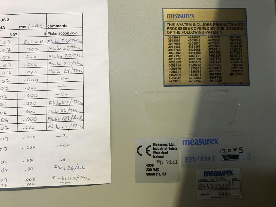 Honeywell measurex QCS beam Iso Therm Scanner Model 2100 : Varaoke
